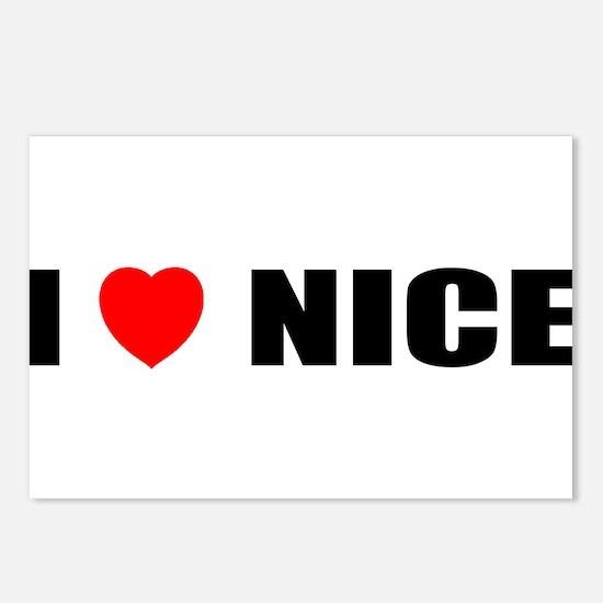 I Love Nice, France Postcards (Package of 8)