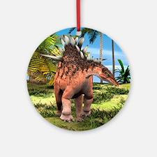 Dinosaur Kentrosaurus Ornament (Round)
