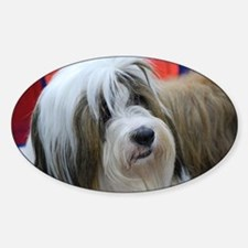 Tibetan Terrier Sticker (Oval)
