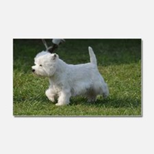 Cute West Highland White Terrie Car Magnet 20 x 12