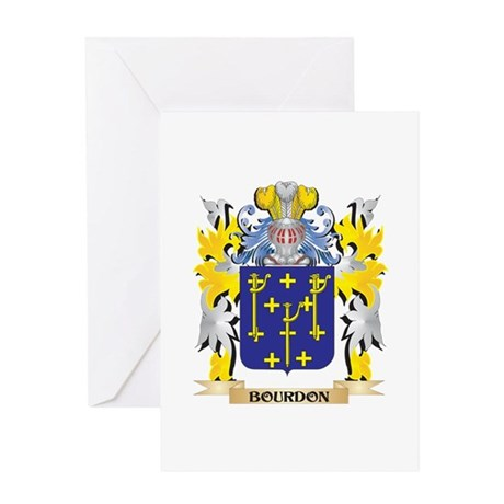Bourdon Coat of Arms - Family Crest Greeting Cards