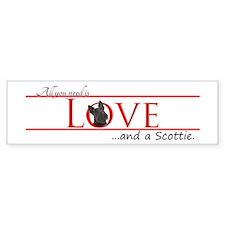 Love a Scottie Bumper Bumper Sticker