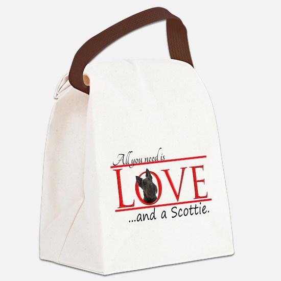 Love a Scottie Canvas Lunch Bag