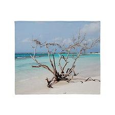 Baby Beach in Aruba Throw Blanket