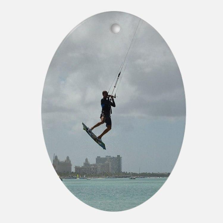 Kitesurfing Air Oval Ornament