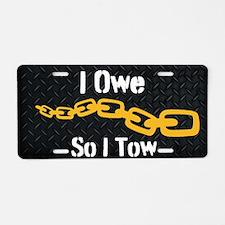 Tow Truck Driver Aluminum Aluminum License Plate