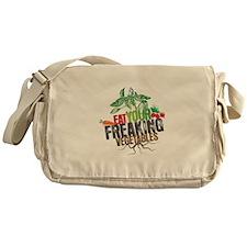 Eat Your Freaking Vegetables Messenger Bag