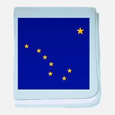 Flag of Alaska baby blanket