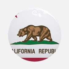 Flag of California Ornament (Round)