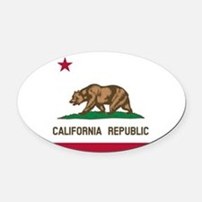 Flag of California Oval Car Magnet