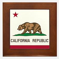Flag of California Framed Tile
