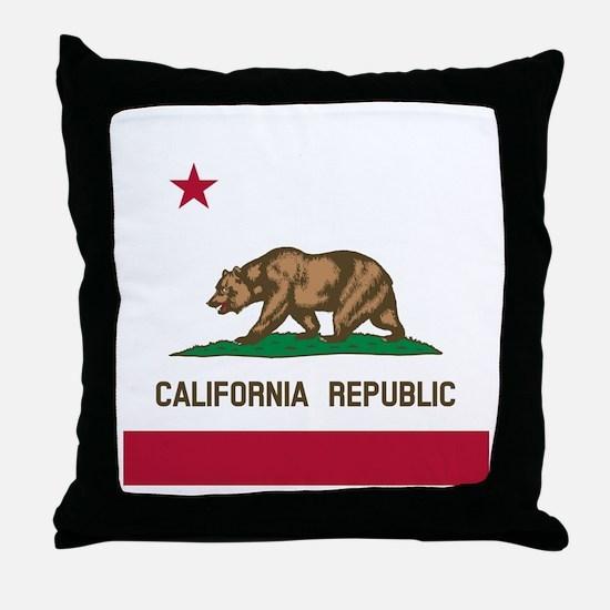 Flag of California Throw Pillow