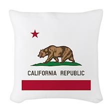 Flag of California Woven Throw Pillow