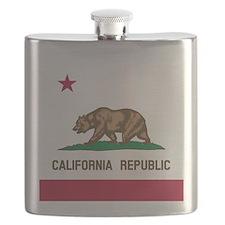 Flag of California Flask