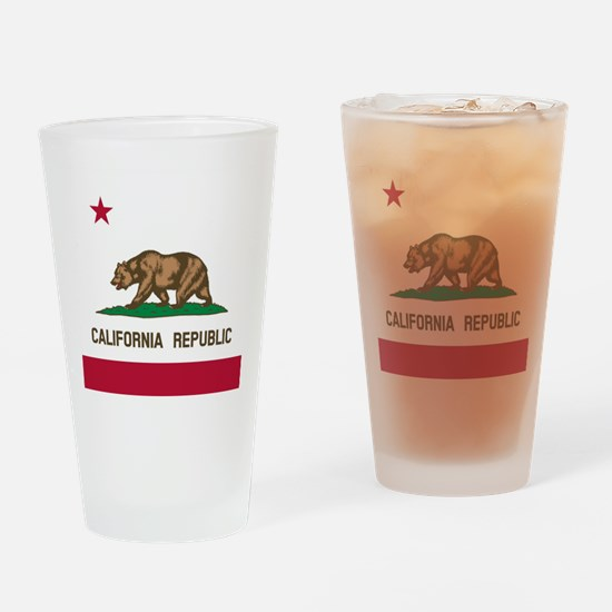 Flag of California Drinking Glass