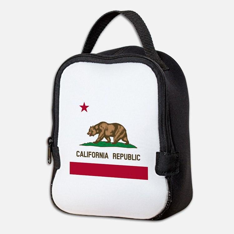 Flag of California Neoprene Lunch Bag