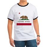 California bear flag Ringer T