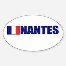 Nantes, France Oval Decal