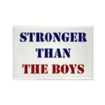 Stronger Than The Boys Rectangle Magnet (100 Pack)