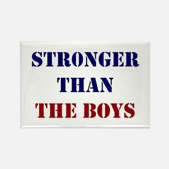 Stronger Than The Boys Rectangle Magnet