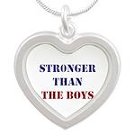 Stronger Than The Boys Silver Heart Necklace