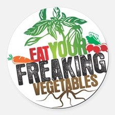 Cute Vegetables Round Car Magnet