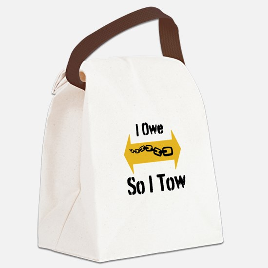 Tow Truck Style Canvas Lunch Bag