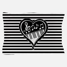 musical heart with piano keys and music notes Pill