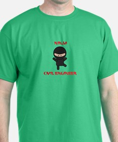 Ninja Civil Engineer T-Shirt