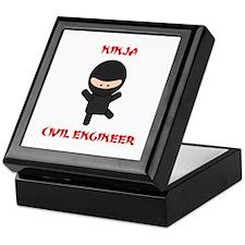 Ninja Civil Engineer Keepsake Box
