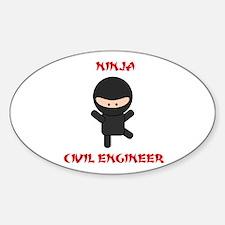 Ninja Civil Engineer Decal