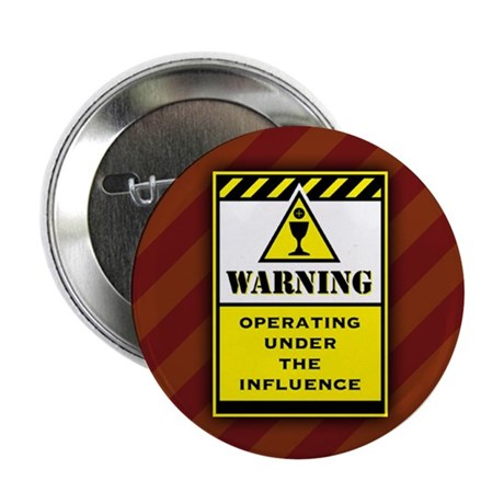 """Warning 2.25"""" Button (100 pack)"""
