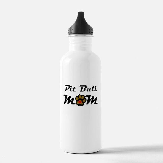 Pit Bull Mom Water Bottle