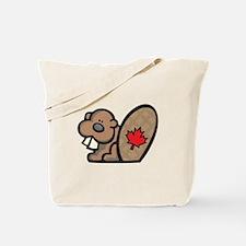 Cute Canadian Beaver Tote Bag