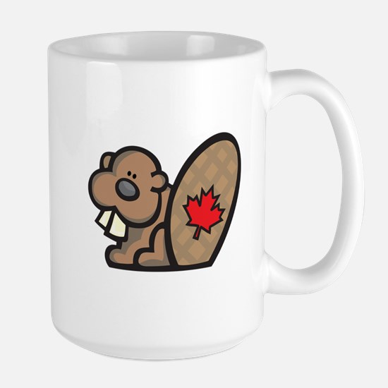 Cute Canadian Beaver Large Mug