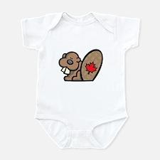 Cute Canadian Beaver Infant Bodysuit