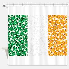 Shamrock Irish Flag Shower Curtain