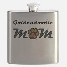 Goldendoodle Mom Flask