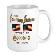 Founding Fathers Shooting Mugs