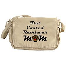 Flat-Coated Retriever Mom Messenger Bag