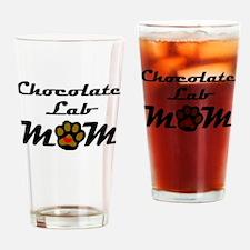 Chocolate Lab Mom Drinking Glass