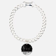 Whimsical Piano and musical notes Bracelet