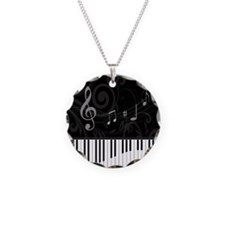 Whimsical Piano and musical notes Necklace