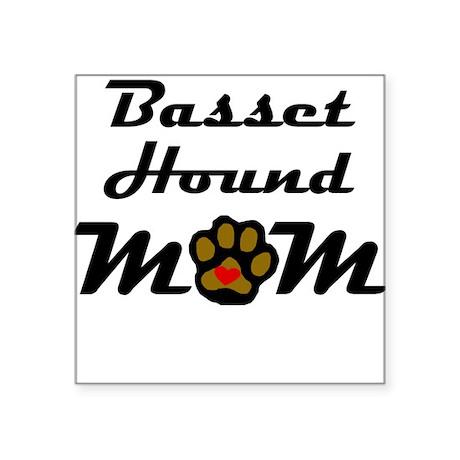 Basset Hound Mom Sticker