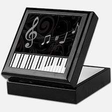 Whimsical Piano and musical notes Keepsake Box