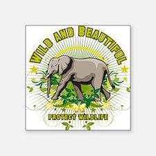 Wild Elephant Oval Sticker
