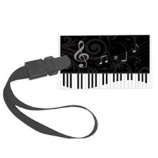 Whimsical Piano and musical notes Luggage Tag