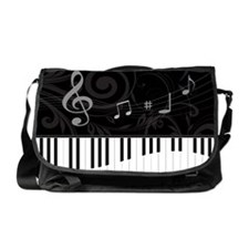 Whimsical Piano and musical notes Messenger Bag