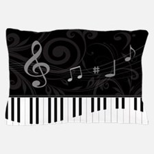 Whimsical Piano and musical notes Pillow Case