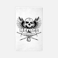 Heroes wear dog tags 3 3'x5' Area Rug